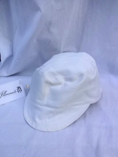 50's Vintage Dead Stock Peaked Cap Type 2 ATOMIC ENERGY White/1