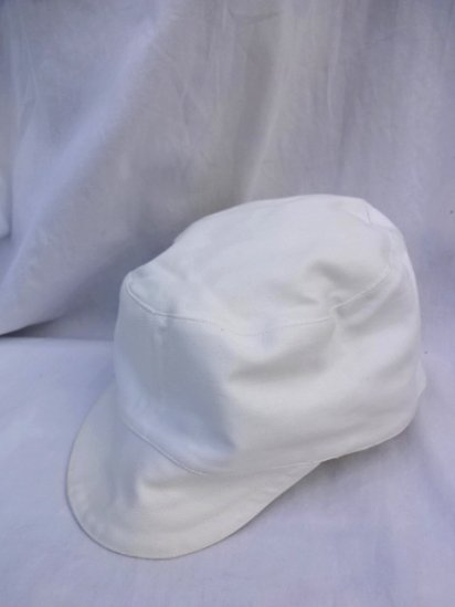 50's Vintage Dead Stock Peaked Cap Type 2 ATOMIC ENERGY White/2