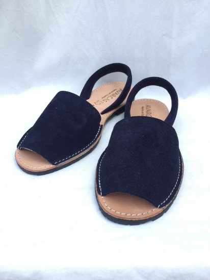Avarcas Suede Leather Sandal MADE IN SPAIN Navy<BR>SALE!! 7,400→ 5,180 + Tax