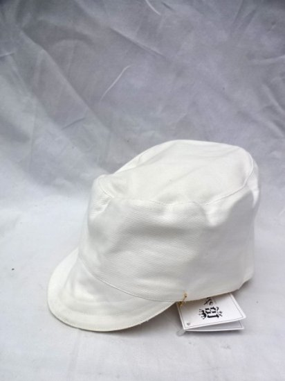 50's Vintage Dead Stock Peaked Cap Type 2 ATOMIC ENERGY White/8