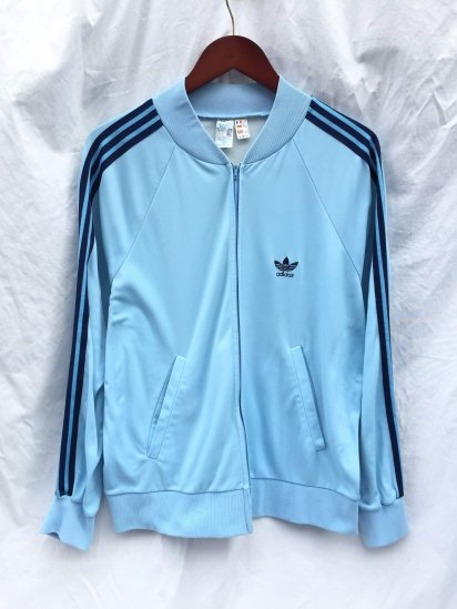 80's Vintage adidas ATP Jog Top VENTEX Made in France <BR> Sax x Navy