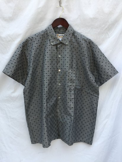 60's Vintage Dead Stock MYER Vacation S/S Shirts Gray
