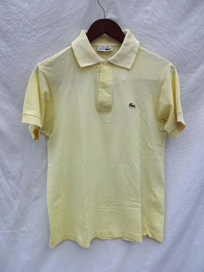 70's〜 Vintage Made in France Lacoste Polo Shirts Yellow / 41