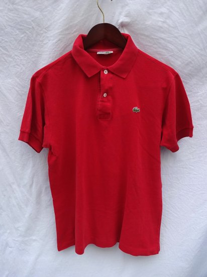 70's〜 Vintage Made in France Lacoste Polo Shirts Red / 43