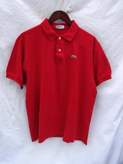 80's 〜 Vintage Made in France Lacoste Polo Shirts Red / 44