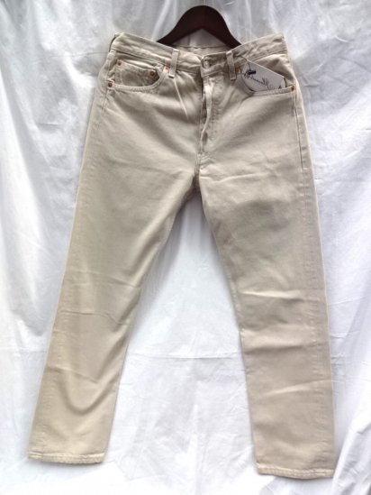 90's Old Euro Levi's 501 Made in Spain Light Beige / 2