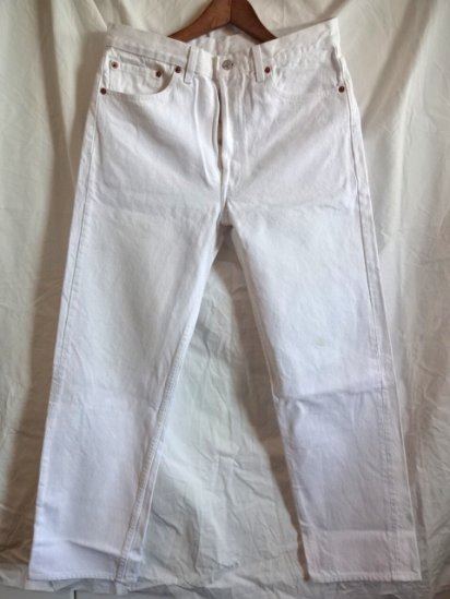 90's Old USA Levi's 501 White Made in U.S.A /7