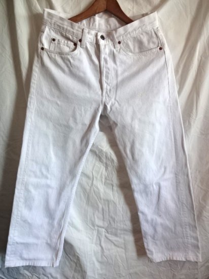 90's Old USA Levi's 501 White Made in U.S.A? /8