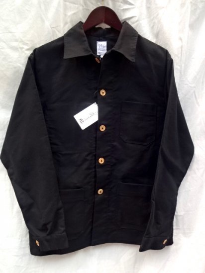 FILS DE BUTTE Black Moleskin Jacket MADE IN FRANCE
