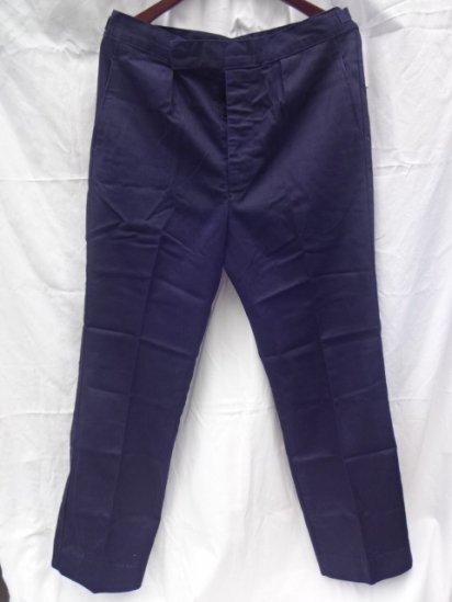 60-70's Vintage Royal Navy Working Dress Trousers Cotton Navy / 1