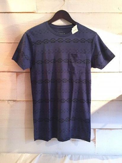 J.Crew Native Print Pocket Tee<BR>SALE!! 4,800 + Tax → 2,400 + Tax