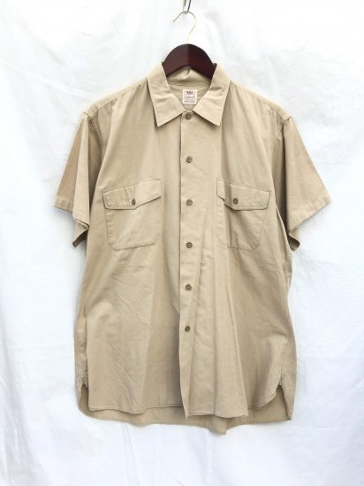 50-60's Vintage US Army Officer Shirts Made by Elbeco Khaki