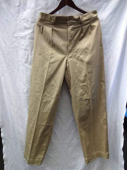 50's〜 Vintage Dead Stock French Army Chino Trousers Beige / 1