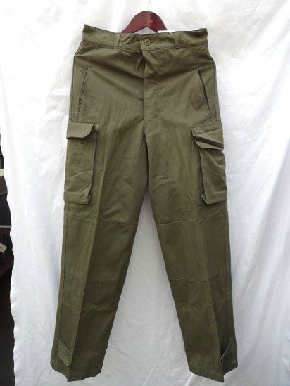 60's Vintage Dead Stock French Army M-47 Cargo Pants Olive / 2
