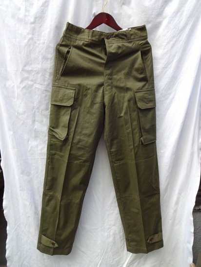 60's Vintage Dead Stock French Army M-47 Cargo Pants Olive / 3