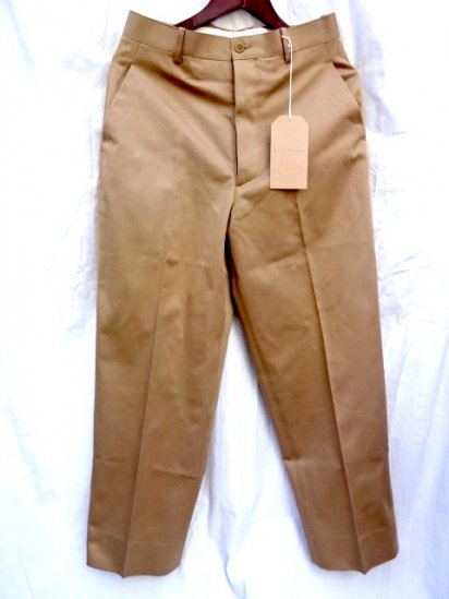 RICHFIELD C-4 Superior Pima Cotton Chino Trousers MADE IN JAPAN Khaki