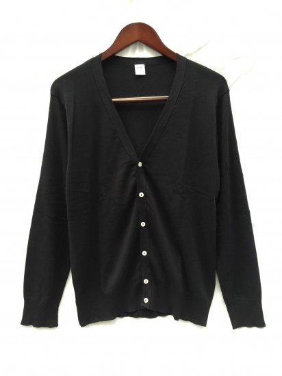 Gicipi Cotton Knit Cardigan Made in Italy Black