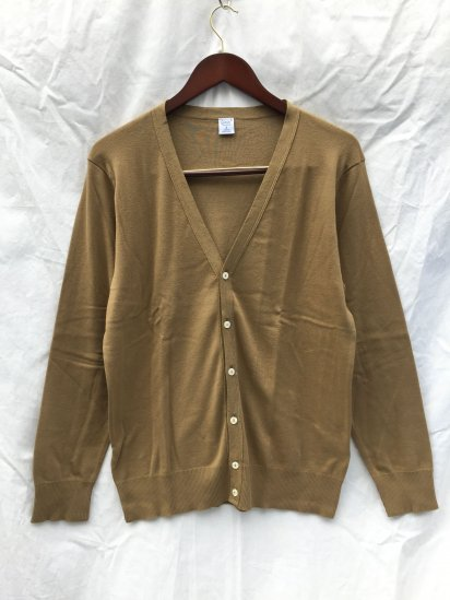 Gicipi Cotton Knit Cardigan Made in Italy Coffee