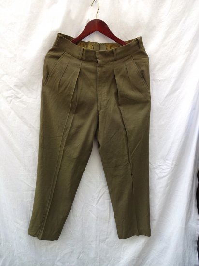 60's Vintage Dead Stock Canadian Army 1954 Pattern <BR> Service Dress Summer Trousers Khaki / 3