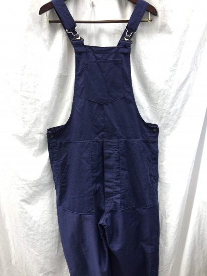 80-90's Vintage British Work Overalls Made in Great Britain Good Condition Navy