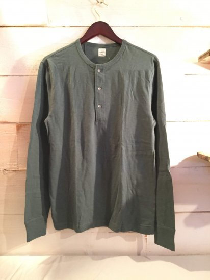 J.Crew Henley Neck Shirts Green<BR>SPECIAL PRICE !! 3,800 + Tax