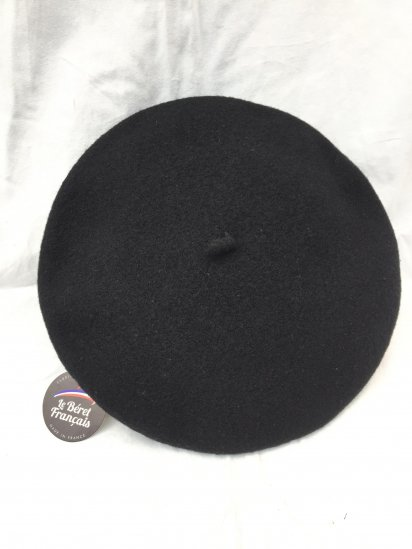 LE BERET FRANCAIS MADE IN FRANCE Black