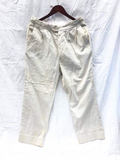 60's Vintage Philmar Satin Trousers Empire Made (Made in UK) Sand / 1