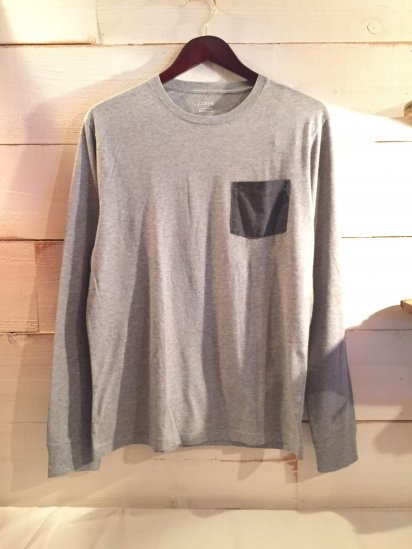 J.Crew Slim Fit 2 Tone Pocket L/T Gray<BR>SPECIAL PRICE !! 2,500 + Tax
