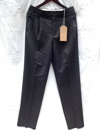 "RICHFIELD T-2 ""Bishu Wool1"" Trousers Made in JAPAN Charcoal MADE IN JAPAN"
