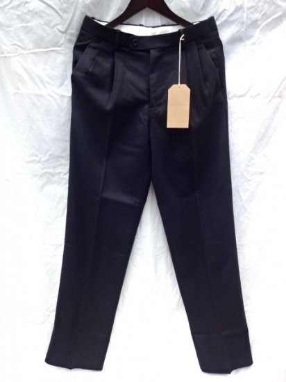 "RICHFIELD T-2 ""Bishu Wool1"" Trousers Made in JAPAN Navy MADE IN JAPAN"