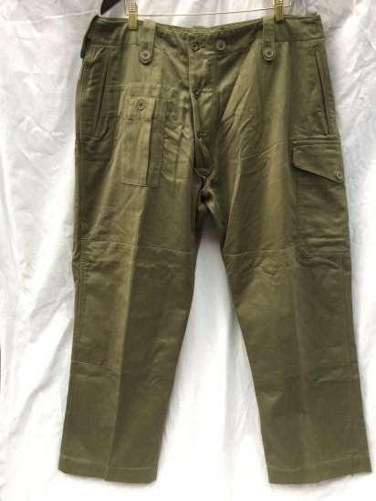 50's Vintage Dead Stock British Army 1952 Pattern Combat Trousers OD