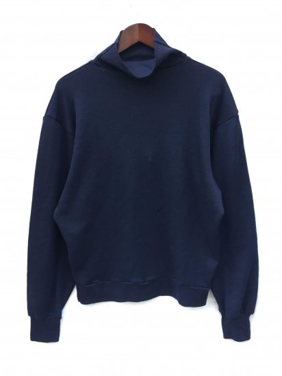 70-80's Royal Navy Mock Neck Long Sleeve Navy