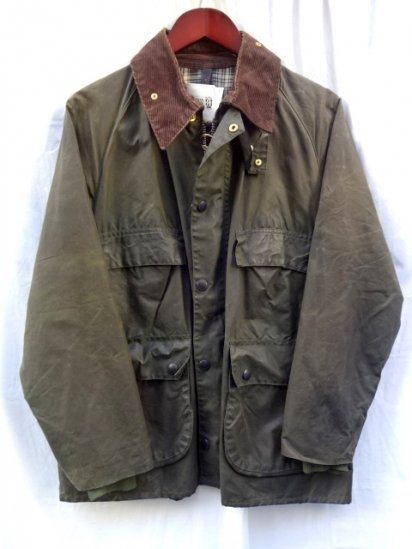 3 Crest Vintage Barbour Old Style BEDALE MADE IN ENGLAND Olive / 20