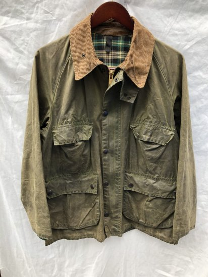 2 Crest Vintage Barbour Old Style BEDALE MADE IN ENGLAND Olive / 21