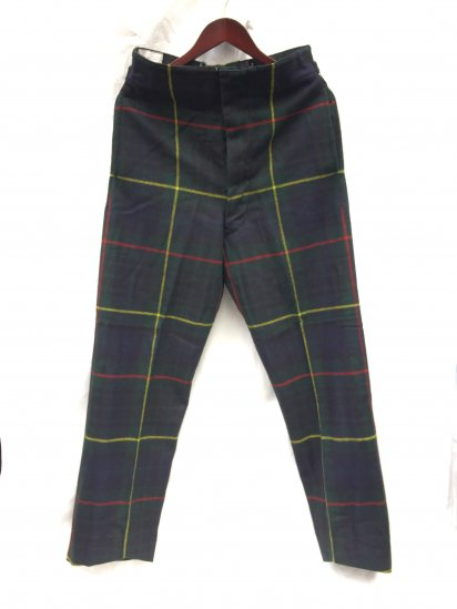 60's Vintage Royal Regiment of Scotland Wool Parade Trousers Hunting Stewart / 1