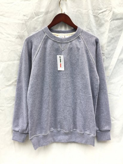 VESTI Front V Gusset Sweat Shirts Made in Italy Gray
