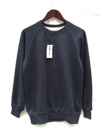 VESTI Front V Gusset Sweat Shirts Made in Italy Navy