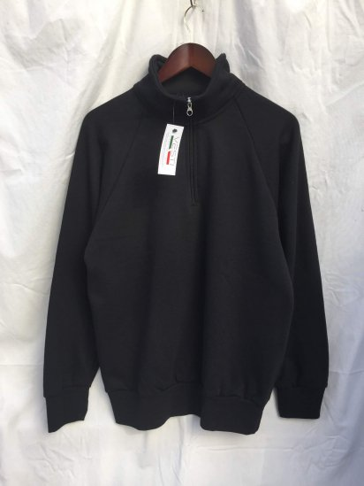 VESTI Half Zip Sweat Shirts Made in Italy Black