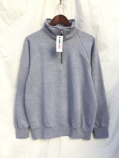 VESTI Half Zip Sweat Shirts Made in Italy Gray