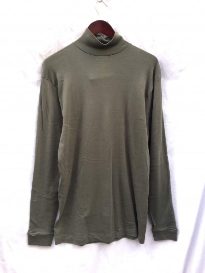 90's Dead Stock British Army Roll Neck L/T Olive / 3