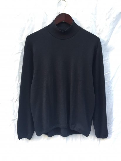 Gicipi Cotton x Cashmere Mock Neck Shirts Made in Italy Black