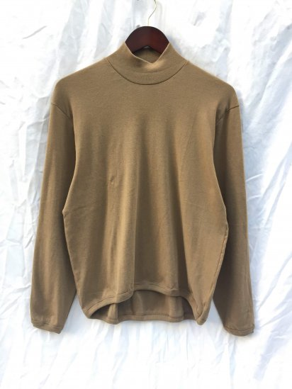 Gicipi Cotton x Cashmere Mock Neck Shirts Made in Italy Coffee