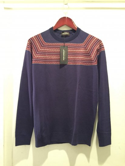 John Smedley MERIDIAN RAGLAN PULLOVER Made in England Purple<BR>SPECIAL PRICE 9,800+Tax