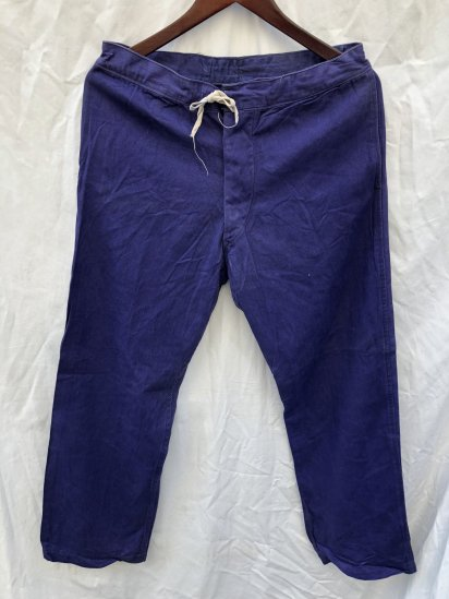 40's Vintage British Military Hospital Trousers Navy / 1
