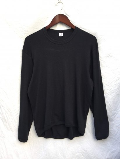 Gicipi Cotton x Cashmere Crew Neck Shirts Made in Italy Black