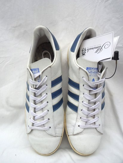 80's Vintage adidas Century MADE IN FRANCE Good Condition White/Blue