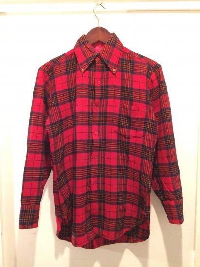 70's Vintage PENDLETON Wool B.D Shirst Made in USA / 8