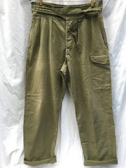 50-60's Vintage British Army 1950 Pattern Jungle Green Trousers Olive