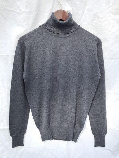 John Smedley Extra Fine Merino Wool Knit A3742 PULLOVER Made in England Charcoal