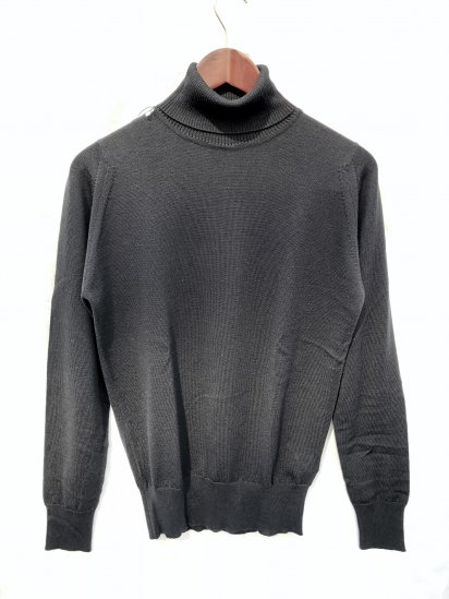 John Smedley Extra Fine Merino Wool Knit A3742 PULLOVER Made in England Black